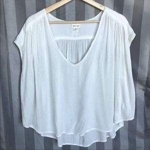 Silence + Noise Urban Outfitters White Sheer Top M